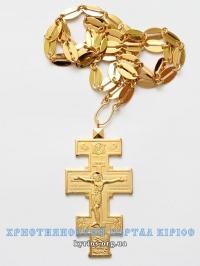 Хрест нагрудний (наперсний), позолочений